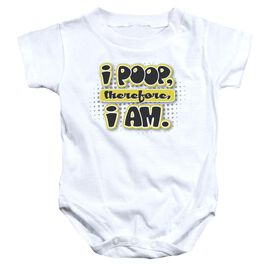 I Am Poopy - Infant Snapsuit - White - Md