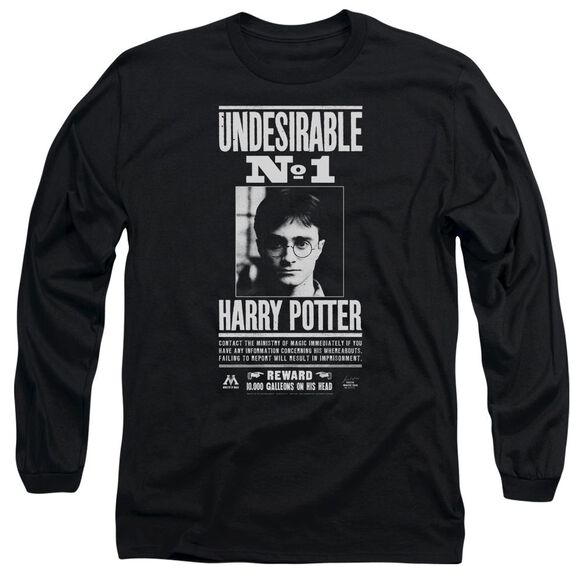 Harry Potter Undesirable No 1 Long Sleeve Adult T-Shirt