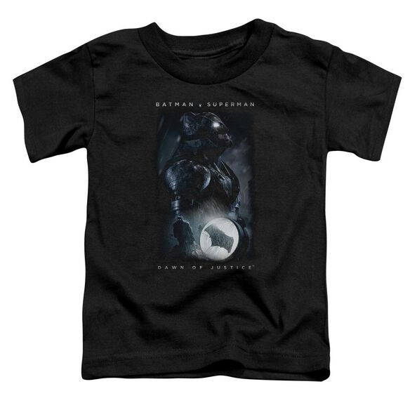 Batman V Superman Signal Short Sleeve Toddler Tee Black T-Shirt