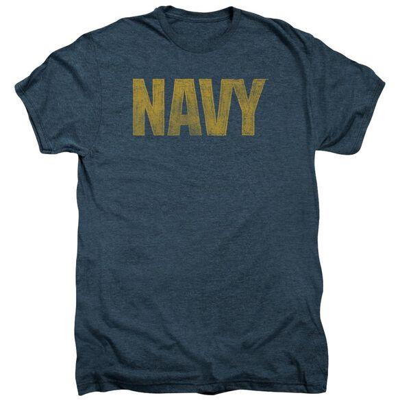 Navy Logo Short Sleeve Adult Premium Tee Indigo T-Shirt