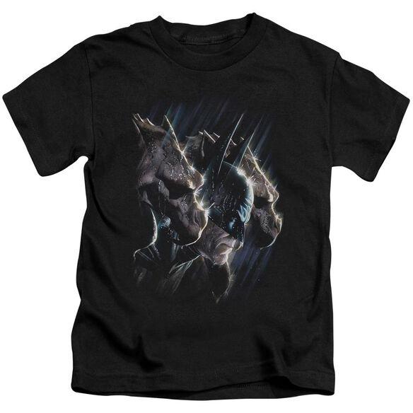 Batman Gargoyles Short Sleeve Juvenile Black T-Shirt