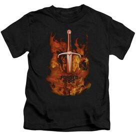 Forged In Fire Sword In Fire Short Sleeve Juvenile T-Shirt