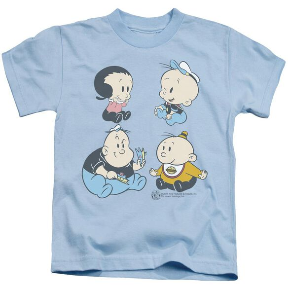 Popeye Four Friends Short Sleeve Juvenile Light T-Shirt
