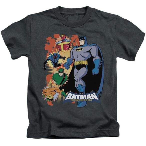 Batman Bb Batman & Friends Short Sleeve Juvenile Charcoal T-Shirt