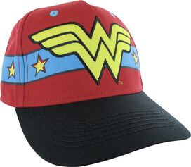 Wonder Woman Big Logo Star Wrap Snapback Hat