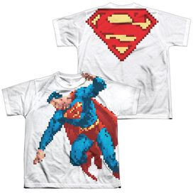 Superman Suoerbit (Front Back Print) Short Sleeve Youth Poly Crew T-Shirt