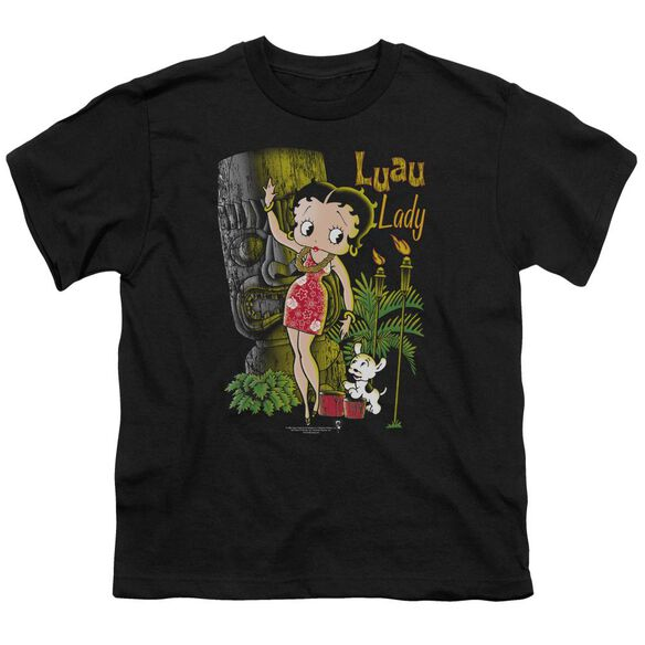 Betty Boop Luau Lady Short Sleeve Youth T-Shirt