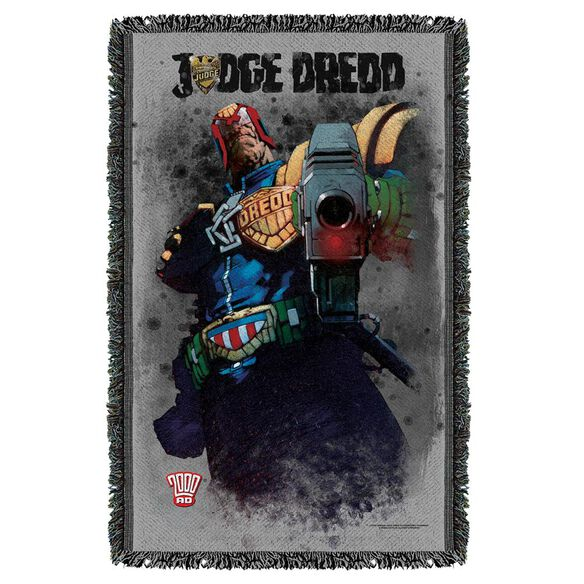 Judge Dredd Last Words Woven Throw