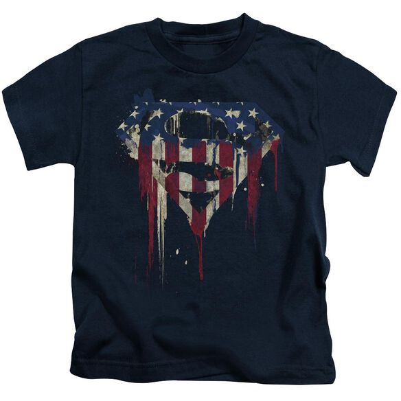 Superman Bleeding Shield Short Sleeve Juvenile T-Shirt