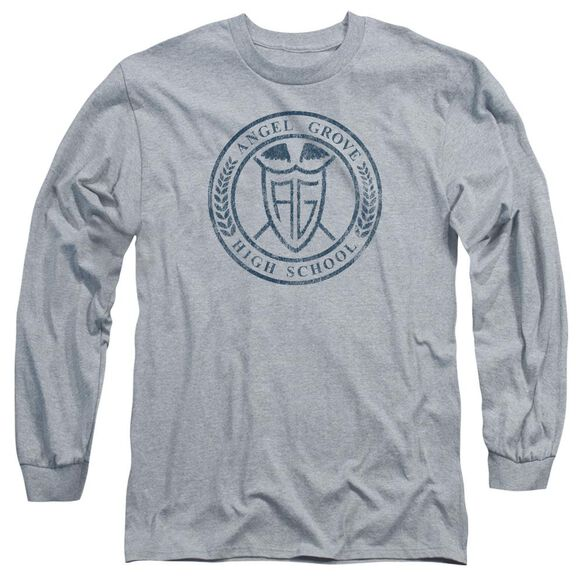 Power Rangers Angel Grove Hs Long Sleeve Adult Athletic T-Shirt