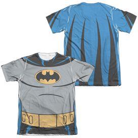 Batman The Animated Series Batman Uniform (Front Back Print) Adult Poly Cotton Short Sleeve Tee T-Shirt