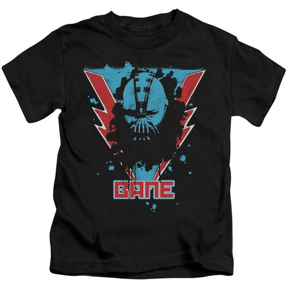 Dark Knight Rises Bane Lightning Short Sleeve Juvenile Black T-Shirt