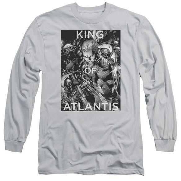 Jla King Of Atlantis Long Sleeve Adult T-Shirt