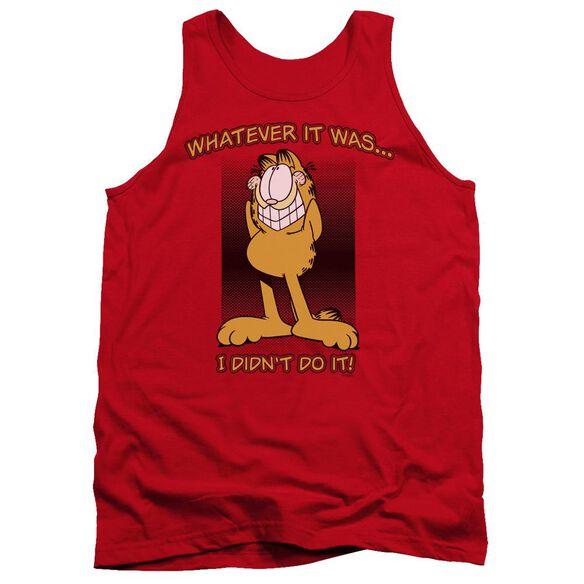 Garfield I Didnt Do It - Adult Tank - Red
