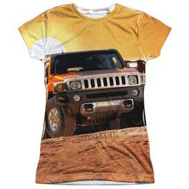 Hummer Sunset Ride Short Sleeve Junior Poly Crew T-Shirt