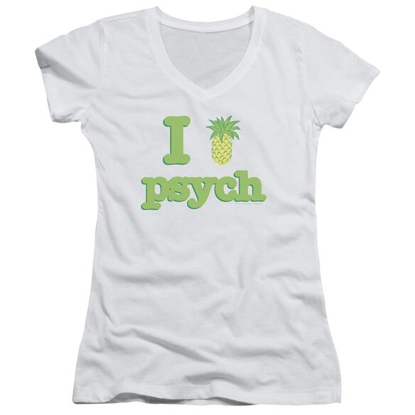 Psych I Like Psych Junior V Neck T-Shirt