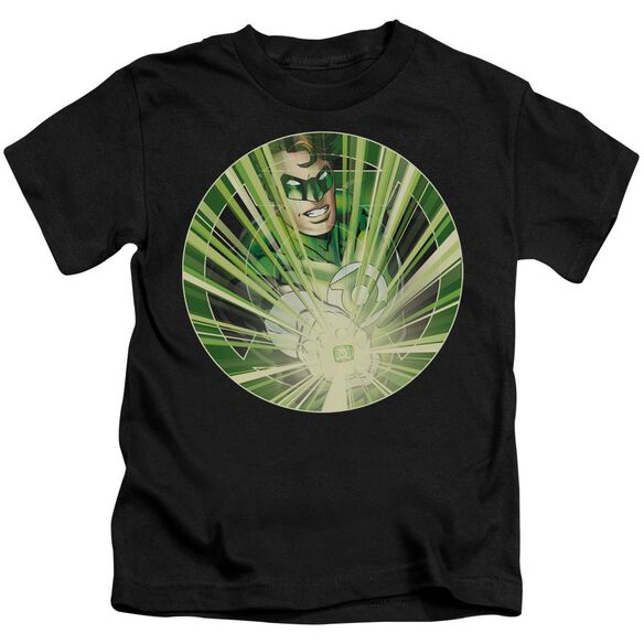 Green Lantern Light Em Up Short Sleeve Juvenile Black T-Shirt