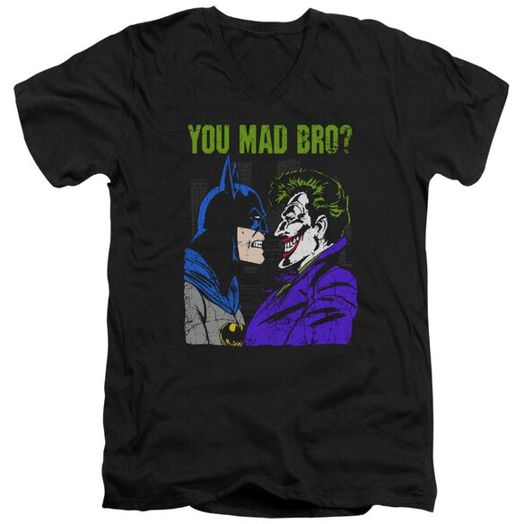 Dc Mad Bro Short Sleeve Adult V Neck T-Shirt