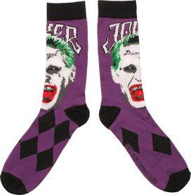 Suicide Squad Joker Face Crew Socks