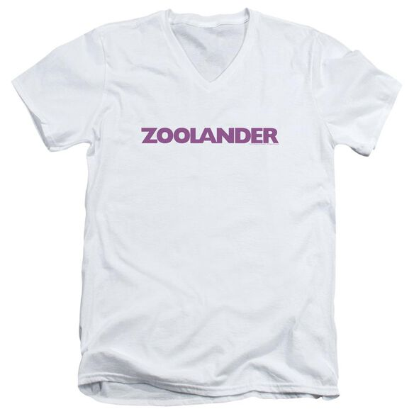 Zoolander Logo Short Sleeve Adult V Neck T-Shirt