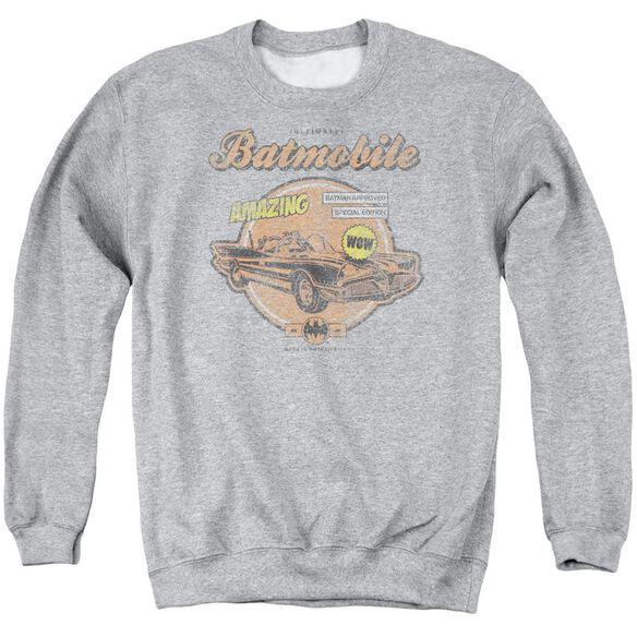 Batman Amazing Batmobile Adult Crewneck Sweatshirt Athletic