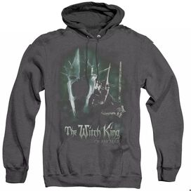 LOR WITCH KING - ADULT HEATHER HOODIE - BLACK