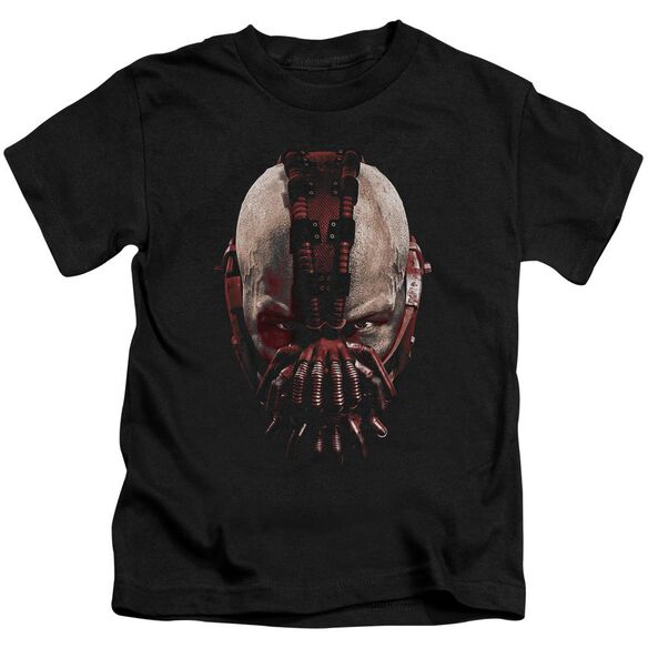 Dark Knight Rises Bane Mask Short Sleeve Juvenile Black Md T-Shirt