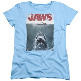 JAWS TITLE - S/S WOMENS TEE - LIGHT BLUE T-Shirt