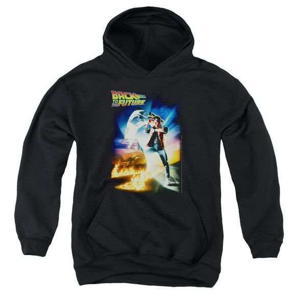 Back To The Future Poster Youth Pull Over Hoodie