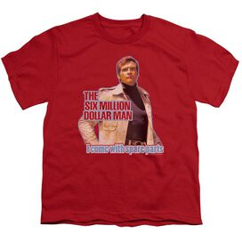 Six Million Dollar Man Spare Parts Short Sleeve Youth T-Shirt