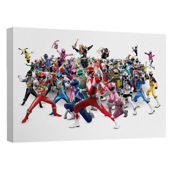 Power Rangers Ranger Overload Canvas Wall Art With Back Board