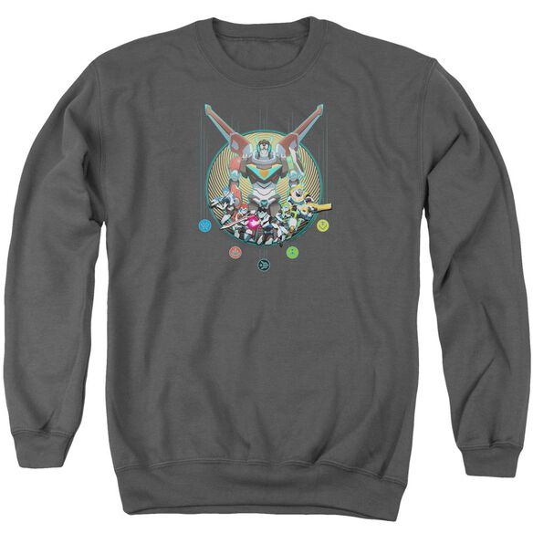 Voltron Assemble Adult Crewneck Sweatshirt