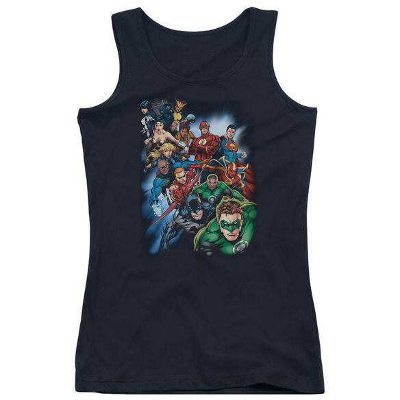Jla Heroes Unite Juniors Tank Top