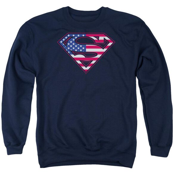 Superman U S Shield Adult Crewneck Sweatshirt
