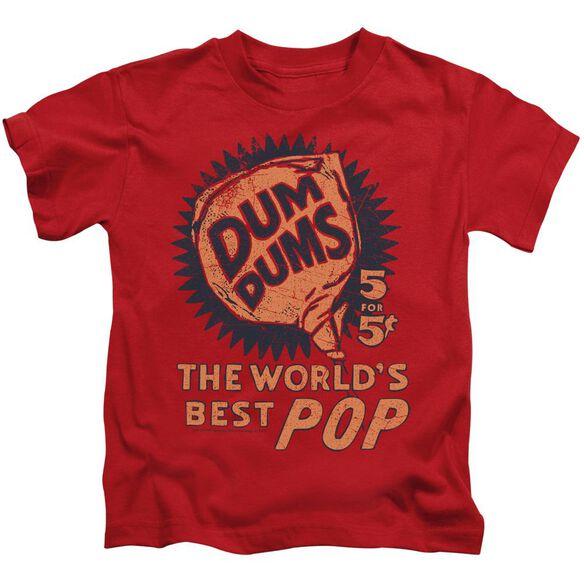 Dum Dums 5 For 5 Short Sleeve Juvenile Red T-Shirt