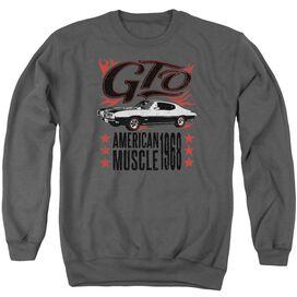 Pontiac Gto Flames Adult Crewneck Sweatshirt