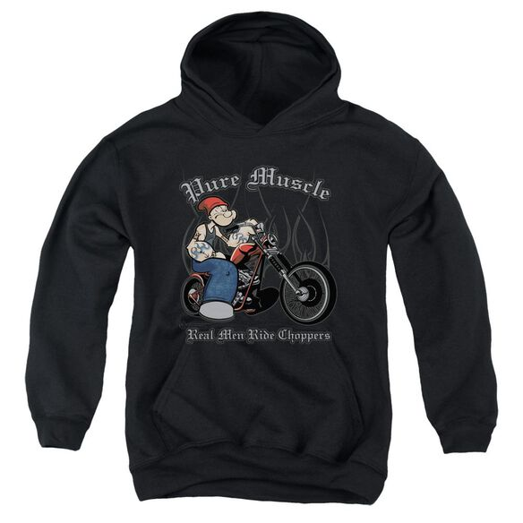 Popeye Pure Muscle Youth Pull Over Hoodie