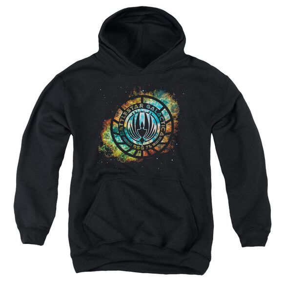 Battlestar Galactica (New) Emblem Knock Out Youth Pull Over Hoodie
