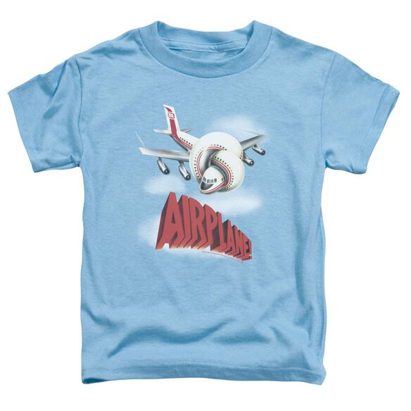 Airplane Logo Short Sleeve Toddler Tee Carolina Blue T-Shirt