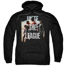 Justice League Movie Dawn Adult Pull Over Hoodie