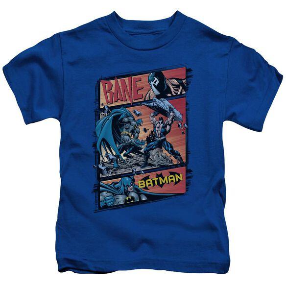 Batman Epic Battle Short Sleeve Juvenile Royal Blue T-Shirt