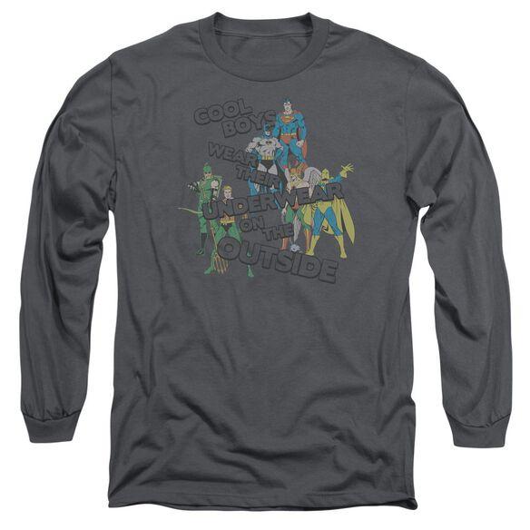 Dc Underwear Long Sleeve Adult T-Shirt