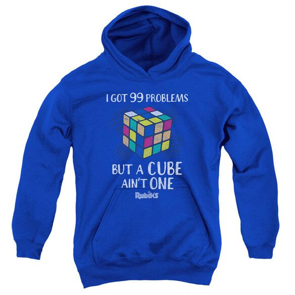 Rubik's Cube 99 Problems Youth Pull Over Hoodie Royal