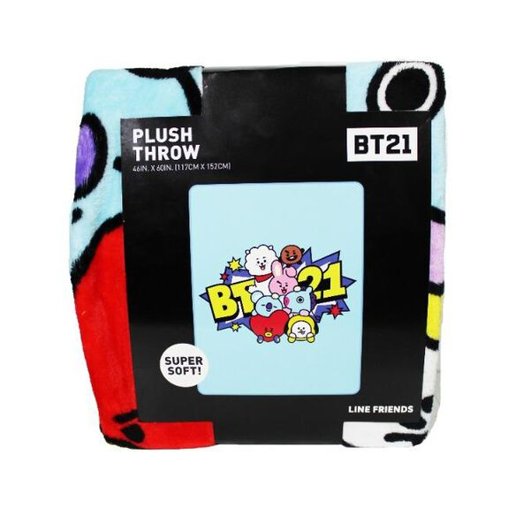 BT21 Plush Throw Blanket