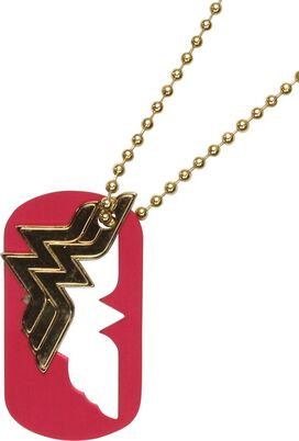 Wonder Woman Cut Out Dog Tag Necklace