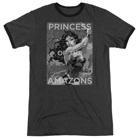 Jla Princess Of The Amazons Adult Heather Ringer Charcoal