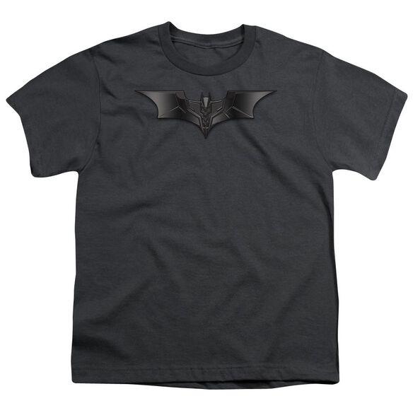 Dark Knight Carbon Fiber Shield Short Sleeve Youth T-Shirt