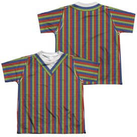 Sesame Street Bert Costume (Front Back Print) Short Sleeve Youth Poly Crew T-Shirt