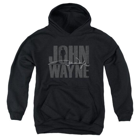 John Wayne Silhouette Sig Youth Pull Over Hoodie