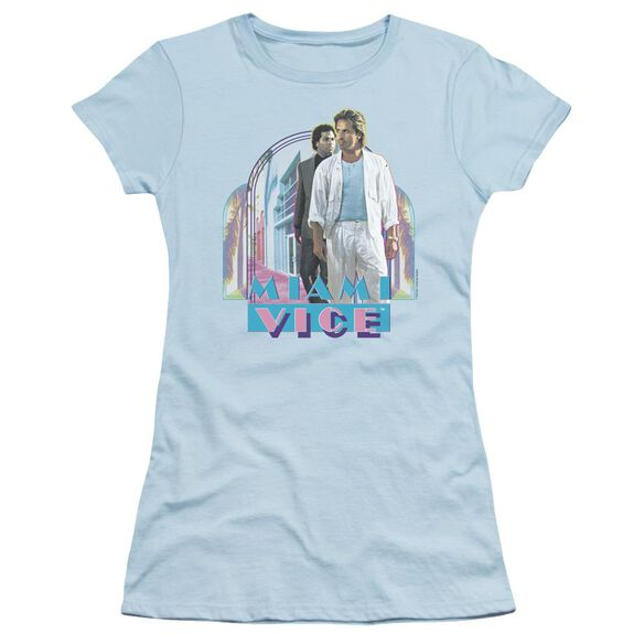 Miami Vice Miami Heat Short Sleeve Junior Sheer Light T-Shirt